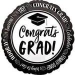 """Foil Balloon - Congrats GRAD! - 17"""" - 1pk"""