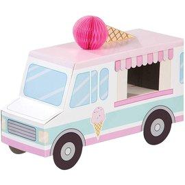 "Centerpiece - Ice Cream Party -  9.25""x6.25""x3.5"" 1pc"