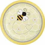"Plates - BV - Bumblebee Baby - 7"" - 8pkg"