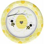 "Plates - LN - Bumblebee Baby - 9"" - 8pkg"