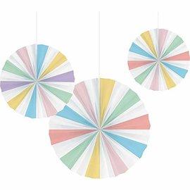 Paper Fan - Pastel Celebration - 3pcs