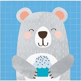 Napkins - BV -  1st Birthday Bear - 16pkg - 2ply