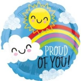 """Foil Balloon - Proud Of you - 18"""" - 1pc"""