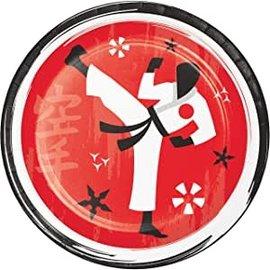 """Plates - LN - Karate Party - 7"""" - 8pkg"""