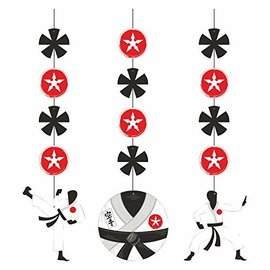 "Hanging Cutouts - Karate Party - 36"" - 3pcs"