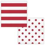 Napkins - Dots & Stripes Classic Red - 17pkg - 2ply