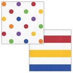 Napkins - BV - Dots & Stripes Multicolor - 16pkg - 2ply