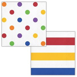 Napkins - BV - Dots & Stripes Multicolor - 16pkg - 2ply