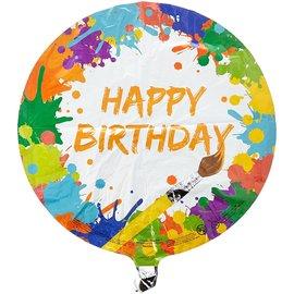 "Foil Balloon - Art Party - Metallic - 18"""