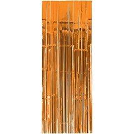 Door Curtain-Metallic Orange-3x8ft-Foil