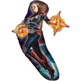 "Foil Balloon - Supershape - Captain Marvel - 37"""