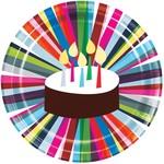 Plates - LN - Birthday Cake - 9''