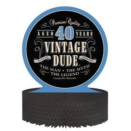 Centerpiece - Vintage Dude ''40'' - 9''x11.75'' - 1pc
