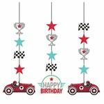 Hanging Cutouts - Vintage Race car - 3pcs