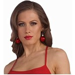 Earrings - Christmas Ball - Red