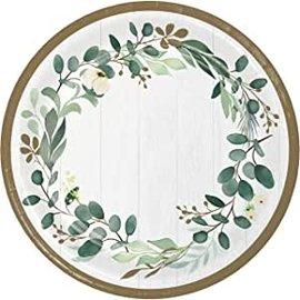 "Plates - DN - Eucal Yptus Greens  -   10"" -  8 pcs"