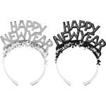 Tiara - Happy New Year - Silver Foil - 1pc