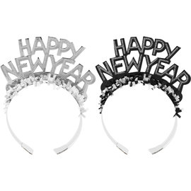 Tiara - Happy New Year - Silver Foil - 1pc