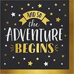 Napkins - LN - Adventure Begins - 16pkg - 3ply