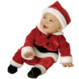 Child Costume - Velvet Santa - Newborn Size