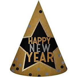 Hat - Happy New Year - Foil - 1pc