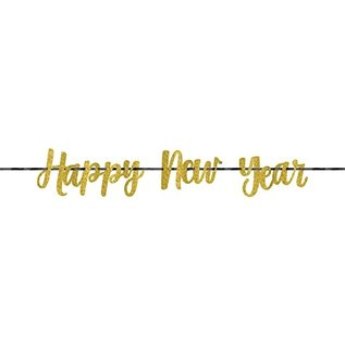 Glitter Banner - Happy New Year - 1pc