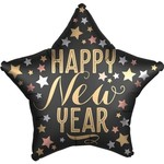 Foil Balloon - Happy New Year - Black&Gold - 19''
