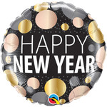 Foil Balloon - Happy New Year Dots - 18''