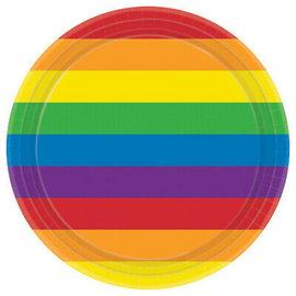 Plates - Rainbow - 7'' - 8pkg