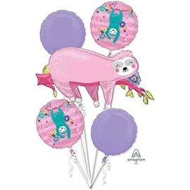 Foil Balloon - 5pkg Balloon Bouquet - Sloth
