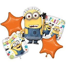 Foil Balloon - Balloon Bouquet 5pkg - Despicable Me