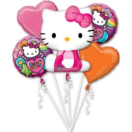 Foil Balloon - Balloon Bouquet 5pkg - Hello Kitty