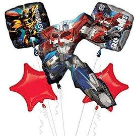Foil Balloon- Transformers Bouquet- 5pk