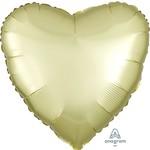 """Foil Balloon - Pastel Yellow - Heart - 17"""""""