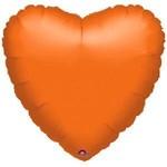 Foil Balloon - Heart - Orange - 18''