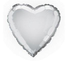 Foil Balloon - Heart - Silver - 17''