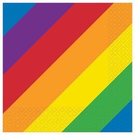 Beverage Napkins - Rainbow - 16pkg - 2ply