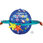 Foil Balloon - Supershape - Colorful Galaxy - 29''