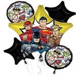 Foil Balloon Bouquet - Justice League - 5pkg