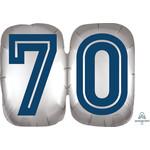 "Foil Balloon - 70th Birthday - Happy Birthday To You Man - 25"""