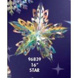 "Star - Crystal Shimmer - 16"" - 1pc"