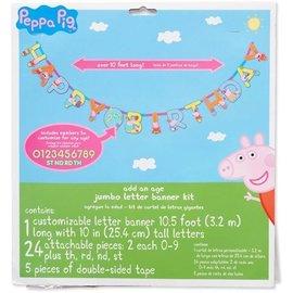Jumbo Letter Customizable Banner- Peppa Pig