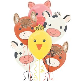 Balloons-Latex-Barnyard Birthday-6pk