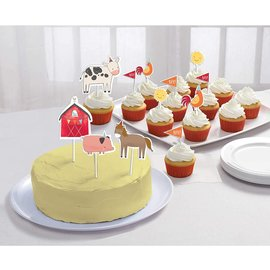 Cake Toppers Picks-Barnyard Birthday-12pcs