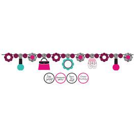 Banner-Ribbon-Customizable-Pink Zebra-1pkg-5.5ft