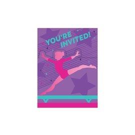 Invitation - Gymnastics Party - 8pkg