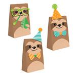 "Treat Bags - Sloth Party - 4.5"" x 8"" - 8pcs"