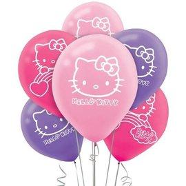 Latex Balloons-Hello Kitty-6pk