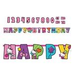 Personalized Jumbo Letter Banner-Hello Kitty-1pk