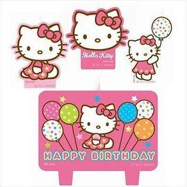 Candle Set-Hello Kitty-4pk